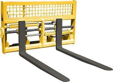 Hydraulic Adjustable Tine Pallet Forks - Dymax Inc